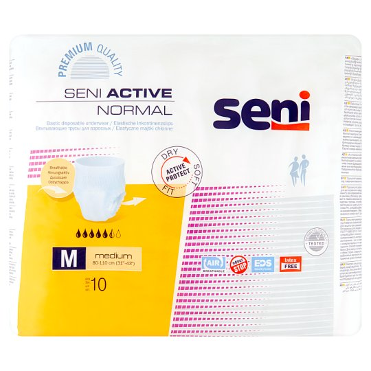 Seni Active Normal Medium Elastic Disposable Underwear 10 Pieces