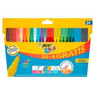 BiC Kids Visa Colouring Felt Pens 24 Colours