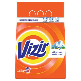 Vizir Alpine Fresh Laundry Powder Detergent 1,5 kg 20 Washes