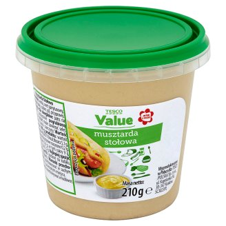 Tesco Value Table Mustard 210 g