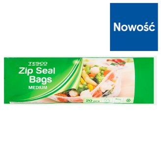 Tesco Medium Zip Seal Bags 20 Pieces