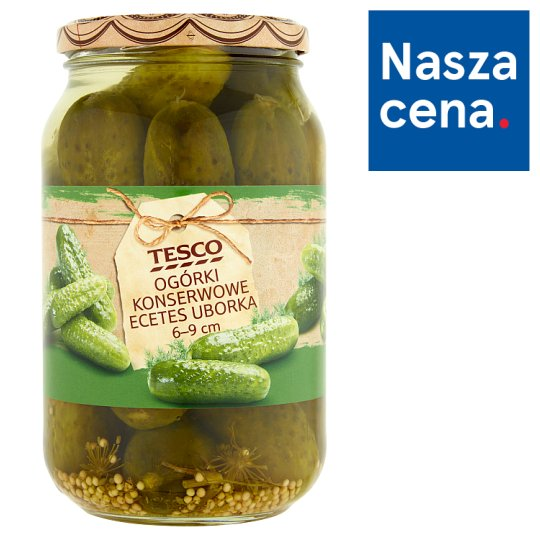 Tesco 6-9 cm Pickled Cucumbers 860 g