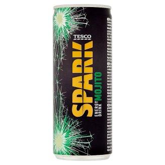 Tesco Spark Gazowany napój energetyzujący o smaku miętowym 250 ml