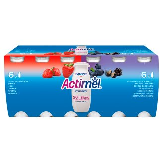 Danone Actimel Blackberry and Blueberry and Strawberry Flavoured Fermented Milk 1.2 kg (12 x 100 g)