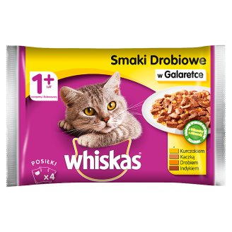 Whiskas Adult Complete Cat Food in Jelly with Chicken Turkey Poultry Duck 4 x 100 g
