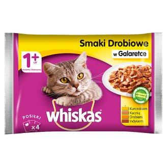 Whiskas Adult Drobiowe dania w galaretce Karma pełnoporcjowa 4 x 100 g