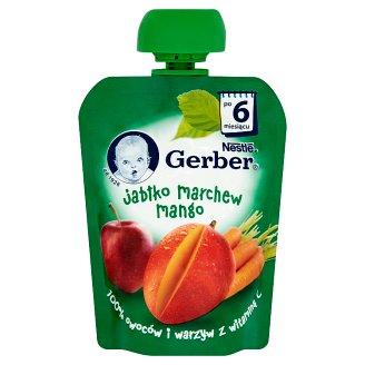 Gerber Deserek Jabłko marchew mango po 6 miesiącu 90 g