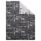 F&F Home Words Black 160 x 200 Bedclothes