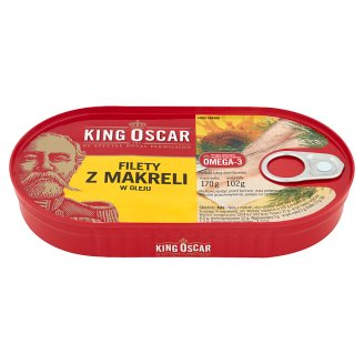 King Oscar Mackerel Fillets in Oil 170 g