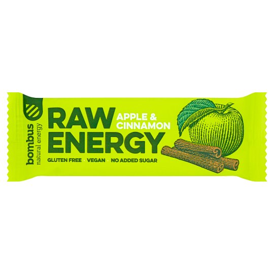 Bombus Raw Energy Apple & Cinnamon Fruit Bar 50 g