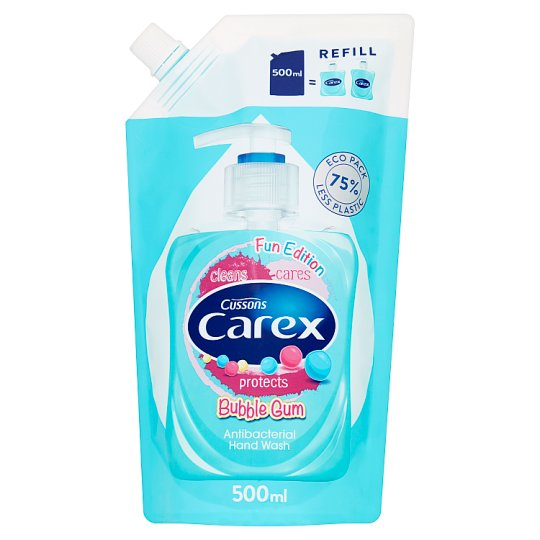 Carex Bubble Gum Antibacterial Hand Wash Refill 500 ml