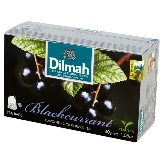 Dilmah Cejlońska czarna herbata z aromatem czarnej porzeczki 30 g (20 torebek)