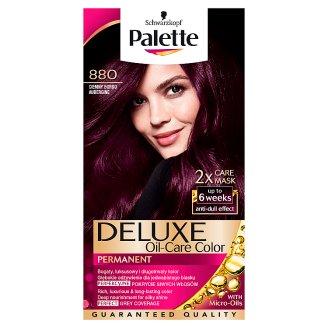 Palette Deluxe Oil-Care Color Farba do włosów Ciemny bordo 880