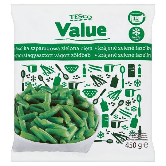 Tesco Value Fasolka szparagowa zielona cięta 450 g