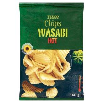 Tesco Chipsy ziemniaczane o smaku wasabi 140 g