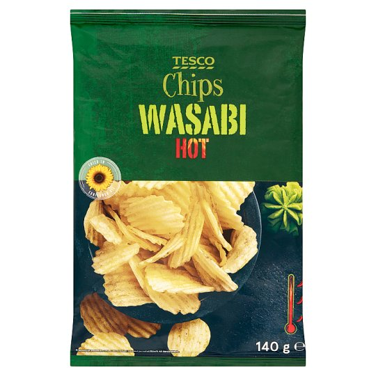 Tesco Hot Wasabi Chips 140 g
