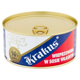 Krakus Wieprzowina w sosie własnym Konserwa 300 g