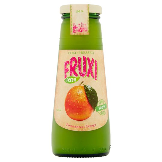 Fruxi Fresh Orange 100% Natural Juice Pressed from Fresh Fruits 250 ml