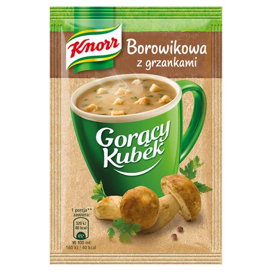 Knorr Gorący Kubek Boletus Soup with Croutons 15 g