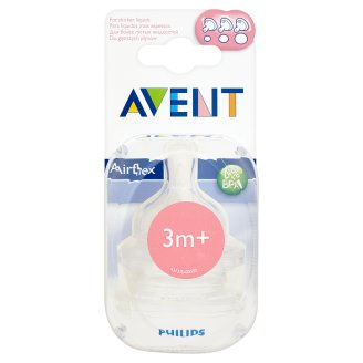 Avent Airflex Teat for Thicker Liquids after 3 Months 2 Pieces