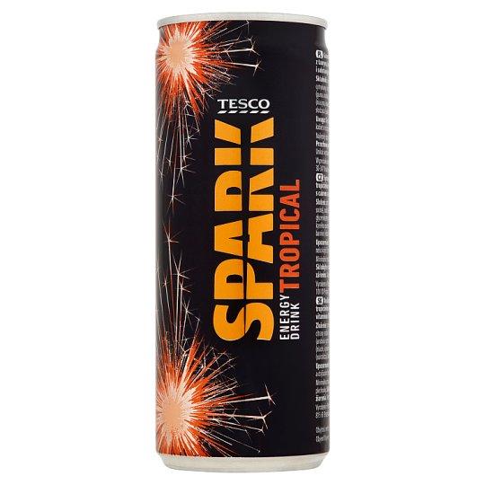 Tesco Spark Tropical Energy Drink 250 ml
