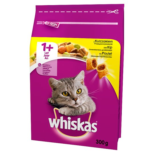 Whiskas 1+ Year Delicious Patties with Chicken Complete Cat Food 300 g