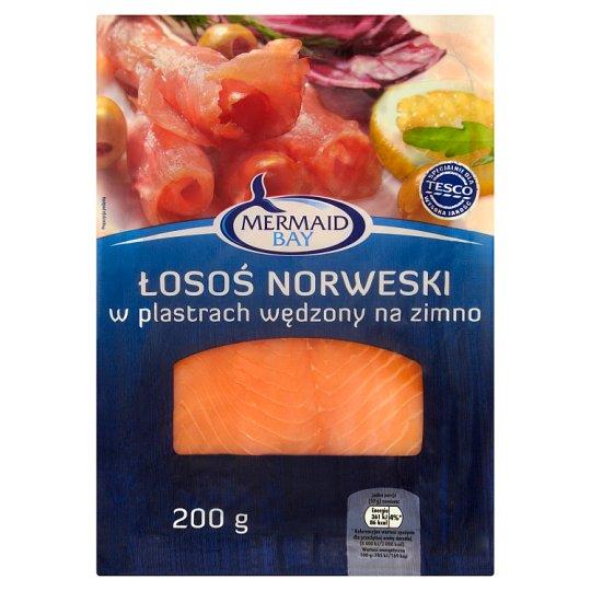 Mermaid Bay Łosoś norweski w plastrach wędzony na zimno 200 g