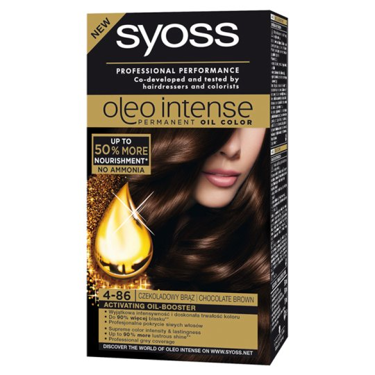 Syoss Oleo Intense Hair Colorant Chocolate Brown 4-86