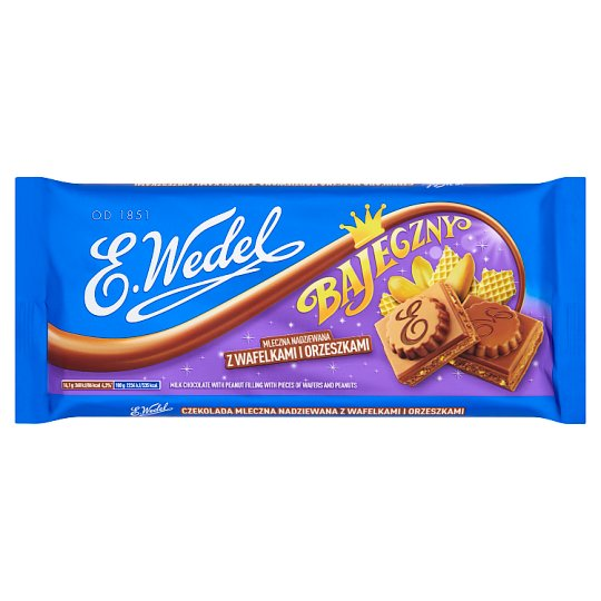 E. Wedel Bajeczny Milk Filled Chocolate with Wafers and Peanuts 290 g