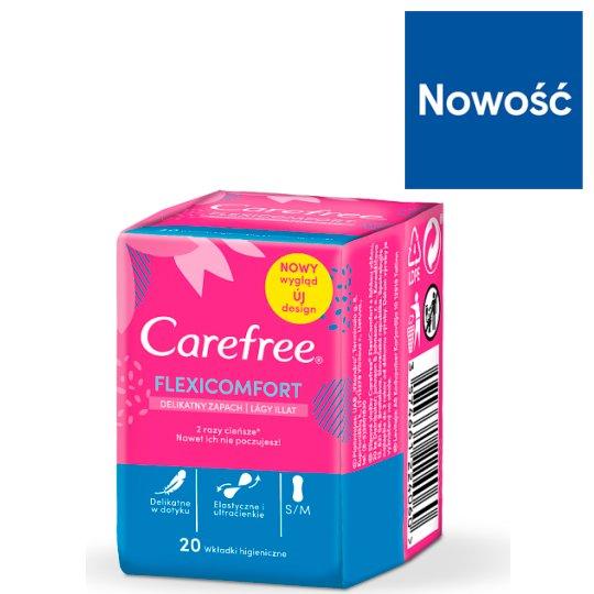 Carefree FlexiComfort with Cotton Feel Wkładki higieniczne 20 sztuk