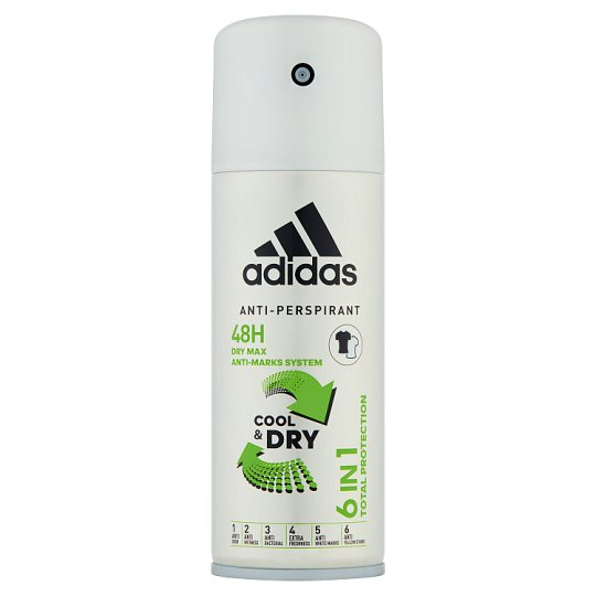 Adidas 6 in 1 Dezodorant antyperspirant dla mężczyzn 150 ml