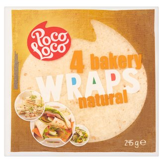 Poco Loco Natural Bakery Wraps 245 g (4 Pieces)