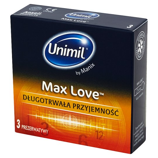 Unimil Max Love Condoms 3 Pieces