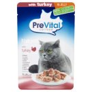 PreVital Naturel Complete Food for Adult Cats with Turkey in Jelly 85 g