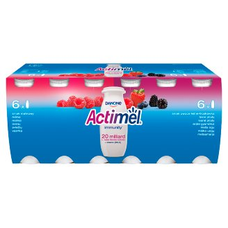 Danone Actimel Raspberry and Forest Fruit and Strawberry Flavour Fermented Milk 1.2 kg (12 x 100 g)
