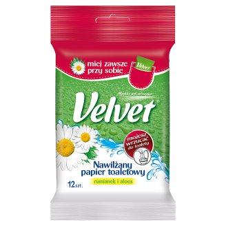 Velvet Nawilżany papier toaletowy rumianek i aloes 12 sztuk