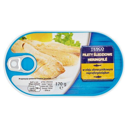 Tesco Filety śledziowe w oleju słonecznikowym 170 g