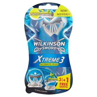 Wilkinson Sword Xtreme3 Ultimate Plus Disposable Razors 4 Pieces