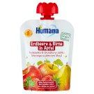 Humana 100% Organic Mus jabłko-gruszka-truskawka po 8 miesiącu 90 g