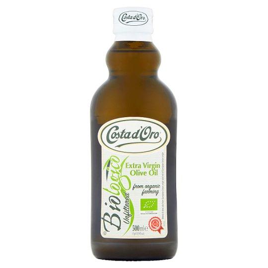 Costa d'Oro Biologico Oliwa z oliwek najwyższej jakości z pierwszego tłoczenia 500 ml