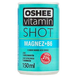Oshee Vitamin Shot Magnesium+B6 Mango Acai Guava Flavoured Drink 150 ml