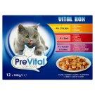 PreVital Vital Box Karma dla kotów z kurczakiem wołowiną królikiem i indykiem w galaretce 12 x 100 g