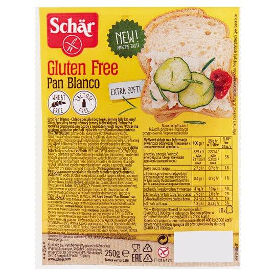 Schär Pan Blanco Bezglutenowy chleb biały 250 g