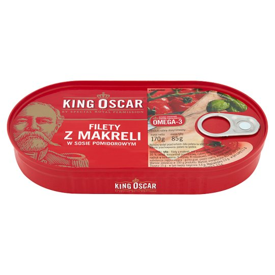 King Oscar Mackerel Fillets in Tomato Sauce 170 g
