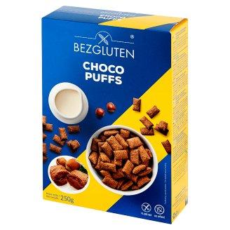 Bezgluten Choco Puffs Kakaowe poduszeczki z nadzieniem z orzechów laskowych 250 g