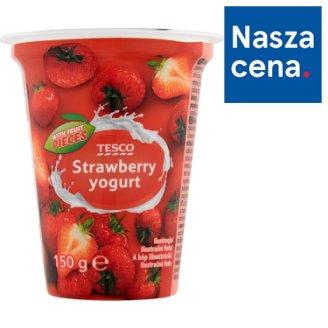 Tesco Jogurt truskawkowy 150 g
