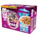 Whiskas Junior Karma pełnoporcjowa 2-12 miesięcy potrawka w galaretce smaki rybne 1020 g (12 x 85 g)