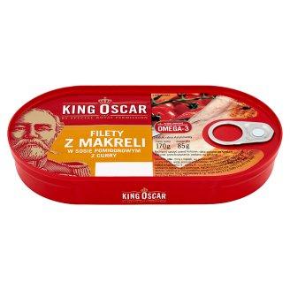 King Oscar Filety z makreli w sosie pomidorowym z curry 170 g