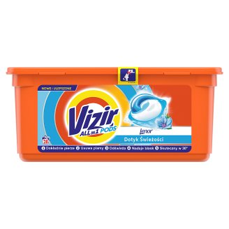 Vizir Washing Capsules Color Triple Action: Cleans Deep, Removes Stains & Protects Colors 28 Washes