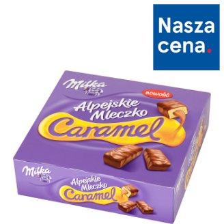 Milka Alpejskie Mleczko Caramel Pianka o smaku waniliowym z nadzieniem karmelowym 350 g